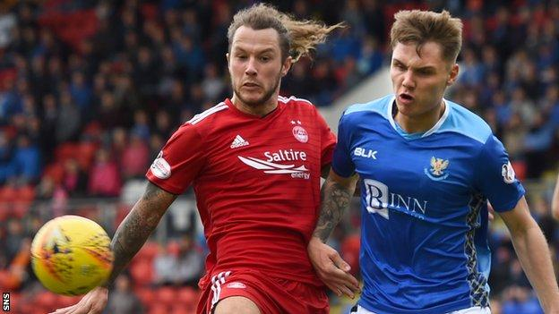 Stevie May struggled to make an impact at Aberdeen