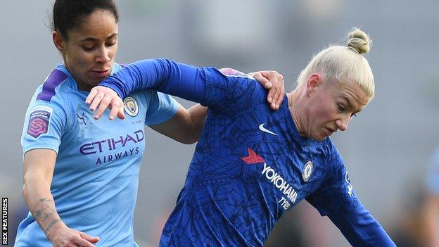 Manchester City v Chelsea in the Women's Super League