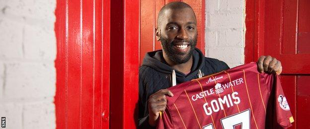 Motherwell midfielder Morgaro Gomis