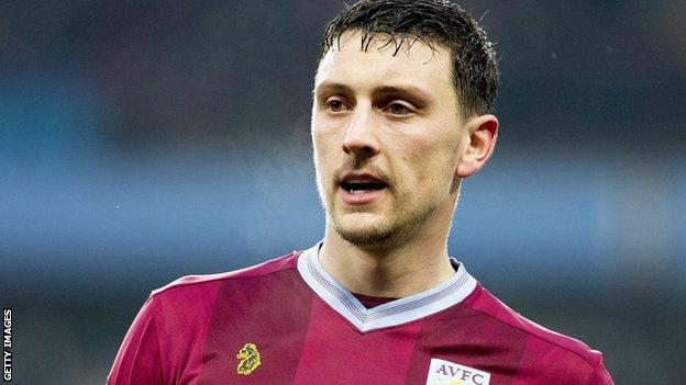 Tommy Elphick in action for Aston Villa