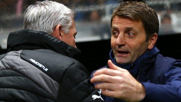 Tim Sherwood, right, became Villa boss in February, took them to the FA Cup final in May and kept them in the Premier League
