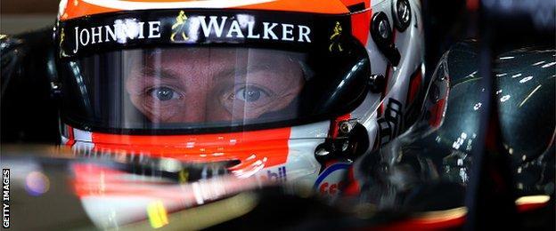 Jenson Button in helmet