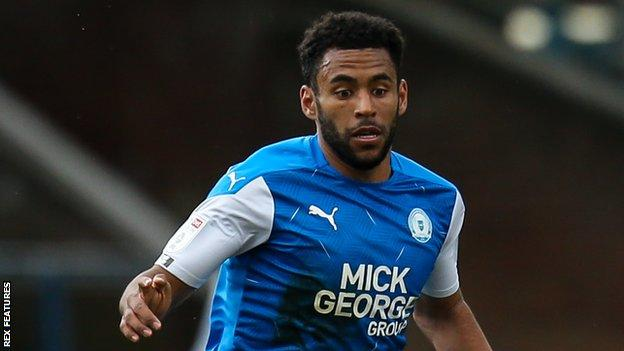 Nathan Thompson in action for Peterborough