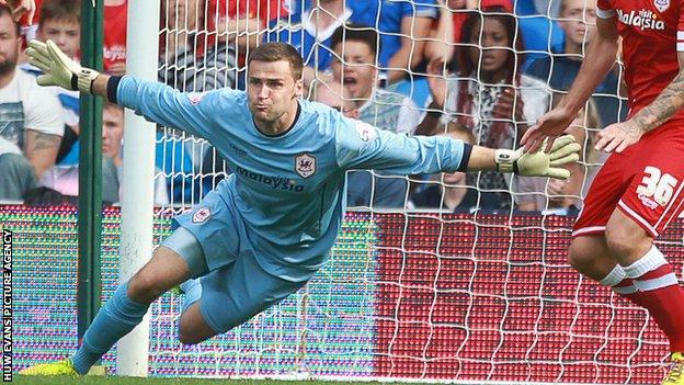 Cardiff City goalkeeper David Marshall