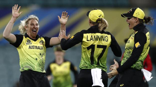Women's T20 World Cup: Australia into final after beating South Africa thumbnail