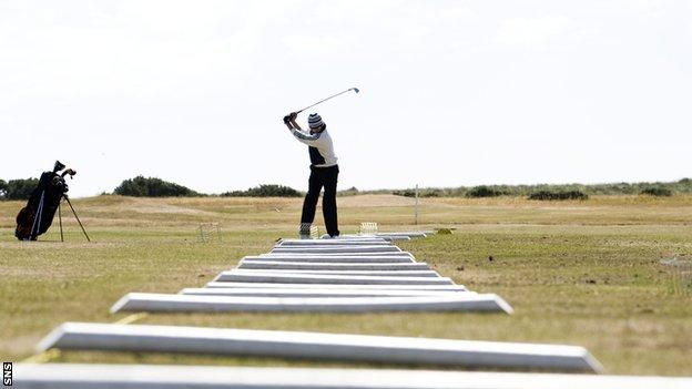 Golfer at Turnberry