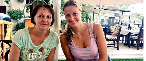 Pavla and Petra Kvitova in Dubai