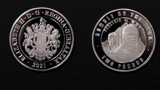 Whyte and Povetkin feature on Gibraltar's £2 coin