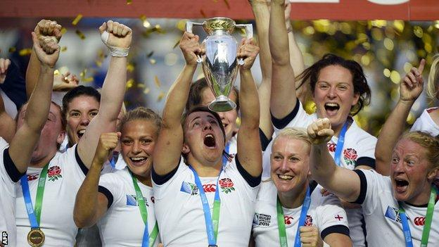 England Women win Rugby World Cup