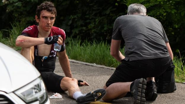 Geraint Thomas says he was 'lucky' to avoid serious injury in Tour of Switzerland crash