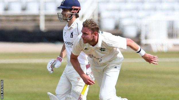 Stuart Broad's return of 3-50 was his best Notts bowling figures since taking 5-73 against Somerset, also at Trent Bridge, in April 2019