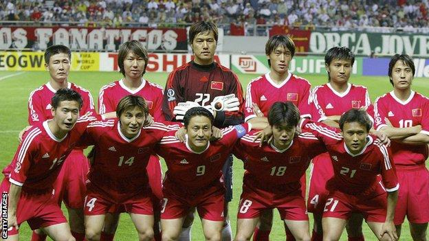 China played at the 2002 World Cup