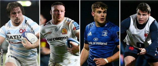 Camille Chat, Sam Simmonds, Garry Ringrose and Antoine Dupont
