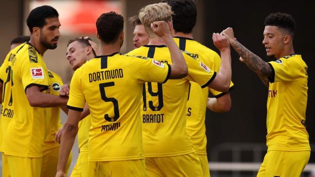SC Paderborn 1-6 Borussia Dortmund: England