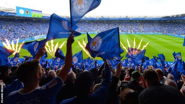Fans at the King Power Stadium for Leicester v Wolves