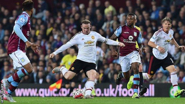 Manchester United and Aston Villa