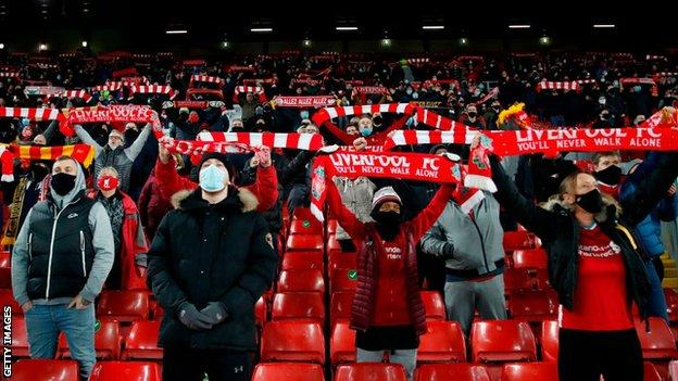 Liverpool fans sing You'll Never Walk Alone at Anfield