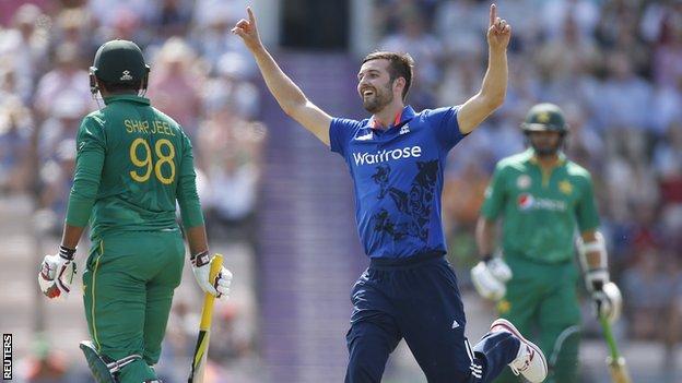 Mark Wood celebrates