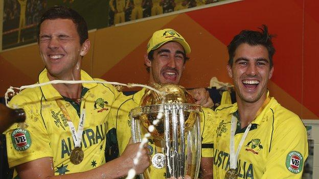 Josh Hazlewood, Mitchell Starc and Pat Cummins helped Australia win the World Cup on home soil in 2015