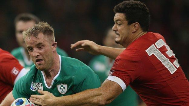 Ireland and Canada in action during the Rugby World Cup in September 2015
