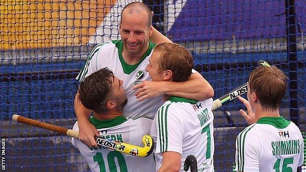 Peter Caruth scored Ireland's opening goal against Belgium