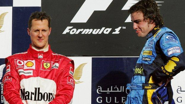 Michael Schumacher and Fernando Alonso 2006