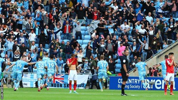 Coventry's fans were in rapture at their first win in their home stadium since Good Friday 2019