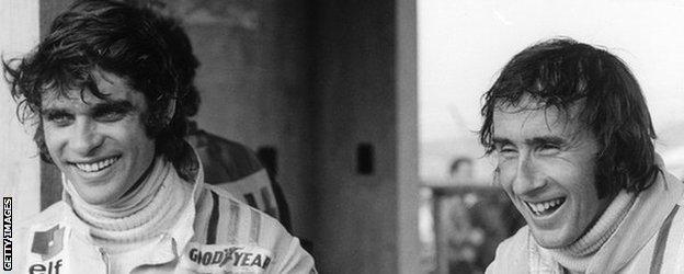 Francois Cevert and Jackie Stewart