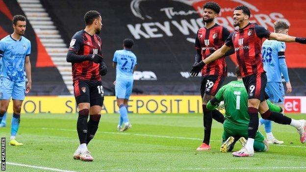 Bournemouth's Arnaut Danjuma scored the first of his two match-winning first-half goals inside 23 seconds