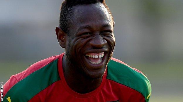 Cameroon midfielder Christian Bassogog
