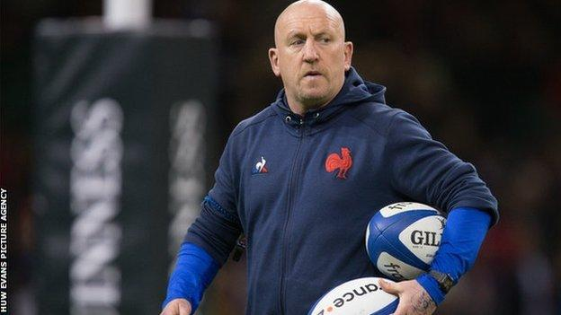 Shaun Edwards with France in Cardiff in February 2020