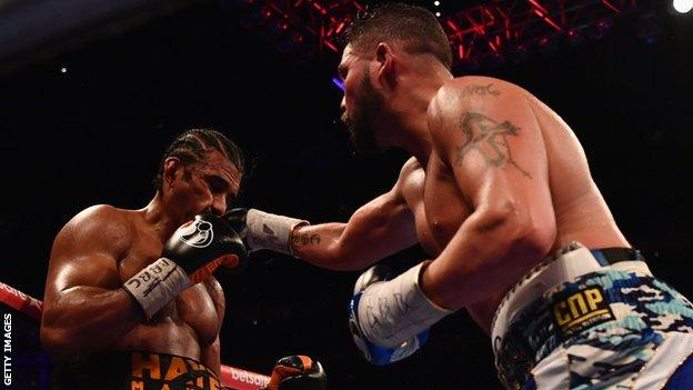 Tony Bellew fights David Haye