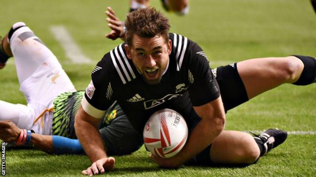 Action from the final in Canada between New Zealand and South Africa