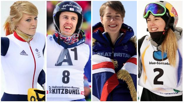 Elise Christie, David Ryding, Lizzy Yarnold and Katie Summerhayes
