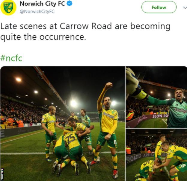 Norwich on Twitter