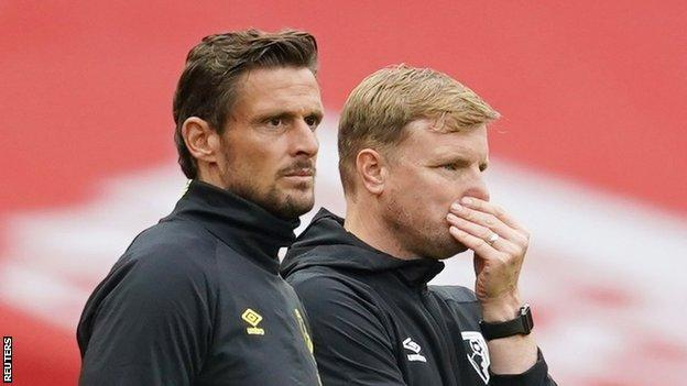 Jason Tindall (left) takes over from Eddie Howe as Bournemouth manager
