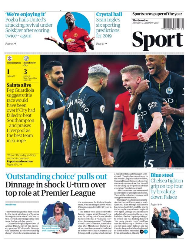 The Guardian back page
