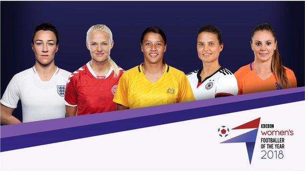 BBC Women's Footballer of the Year 2018 nominees