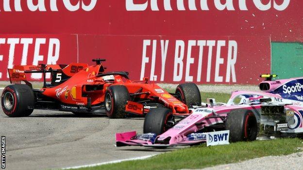 Sebastian Vettel and Lance Stroll