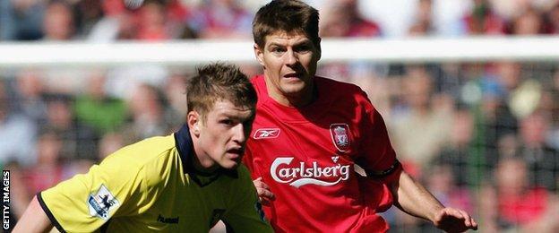 Steven Davis and Steven Gerrard
