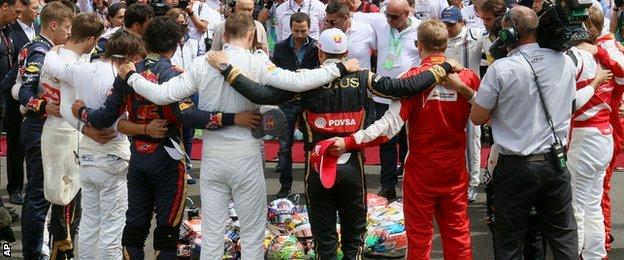Minute's silence for Jules Bianchi