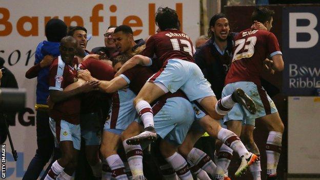 Burnley celebrate