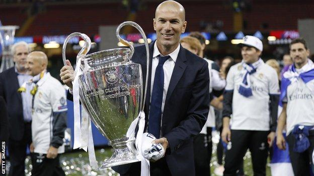 Zinedine Zidane after retaining the Champions League