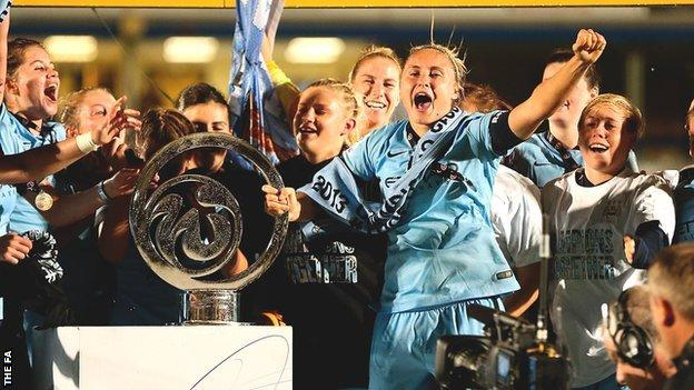 Manchester City Women win 2014 Continental Cup