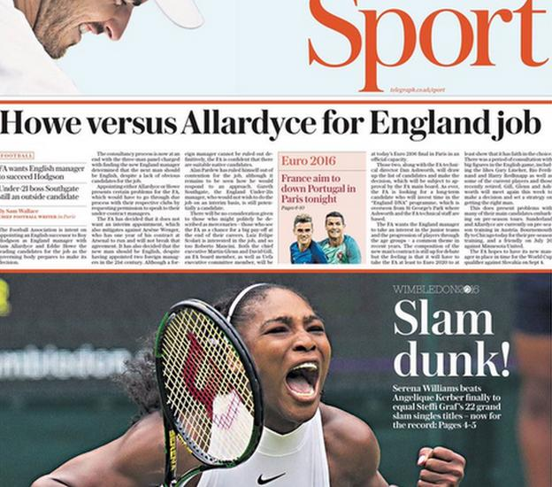 The Sunday Telegraph back page