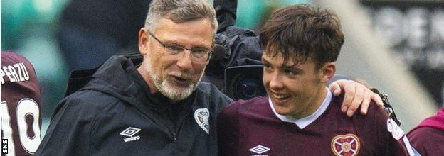 Former Hearts boss Craig Levein gave Hickey his Hearts debut
