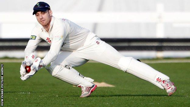 Glamorgan wicket-keeper Mark Wallace