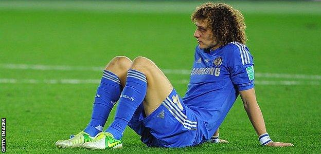 David Luiz looking dejected after Chelsea's defeat by Corinthians