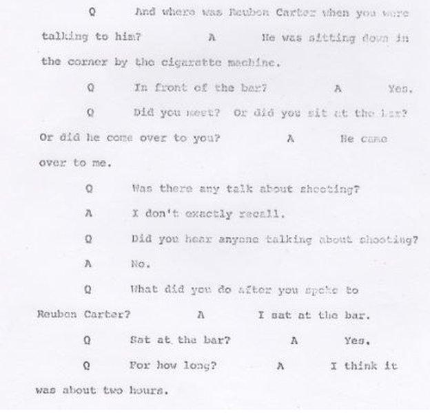 An excerpt from the secret grand jury testimony of Annie Haggins