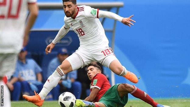Alireza Jahanbakhsh played for Iran at the World Cup in Russia